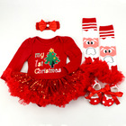 Christmas smocked dresses for little girls baby clothes wholesale
