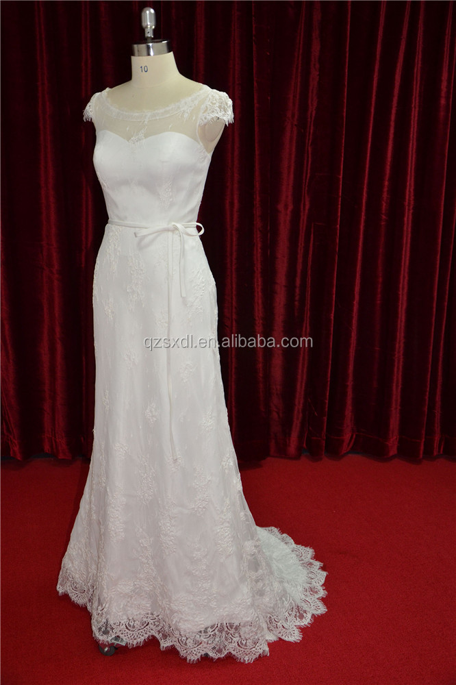 New Made Strapless Fit and Flare Lace Mermaid Wedding Dress
