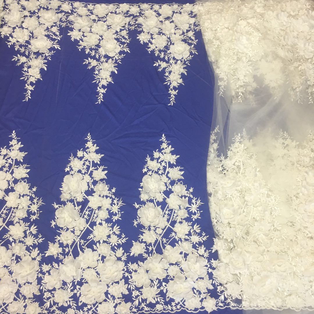 Nigeria cotton embroidery lace fabric 3d fabric lace mikemaycall lace fabric