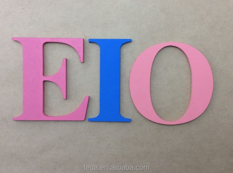 teda art minds wood craft decorative wooden letters wholesale wow painted any color