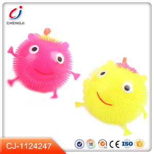 2018 New items funny plastic flash ball toy with light