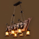 industrial vintage oil glass cup for boat chandelier indoor 8 heads expensive kerosene ceiling pendant lamp