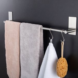 bathroom towel wall shelf with towel bar and coat hooks kitchen and bathroom hanging towel clothes coat hook