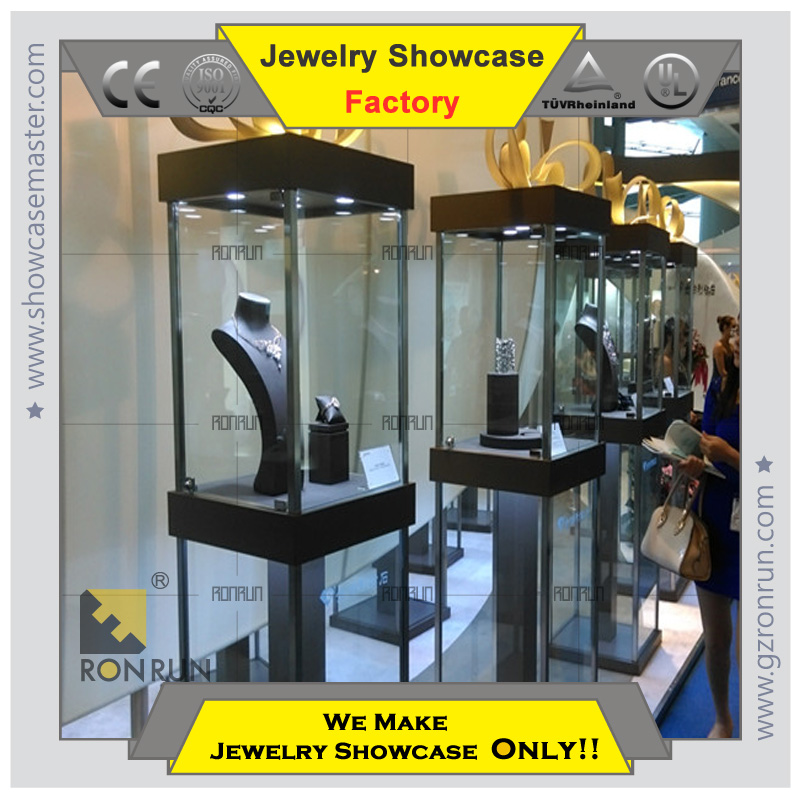 Lux Design Showcase Rotating Jewellery Display With Stainless ...