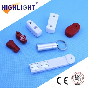 Highlight SL001 retail loss prevention red 4mm display security EAS  stoplock/ EAS Hook Stop Lock/ Anti-Theft Magnetic Security S
