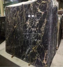 Black Stone Royal Black Golden Flower Marble