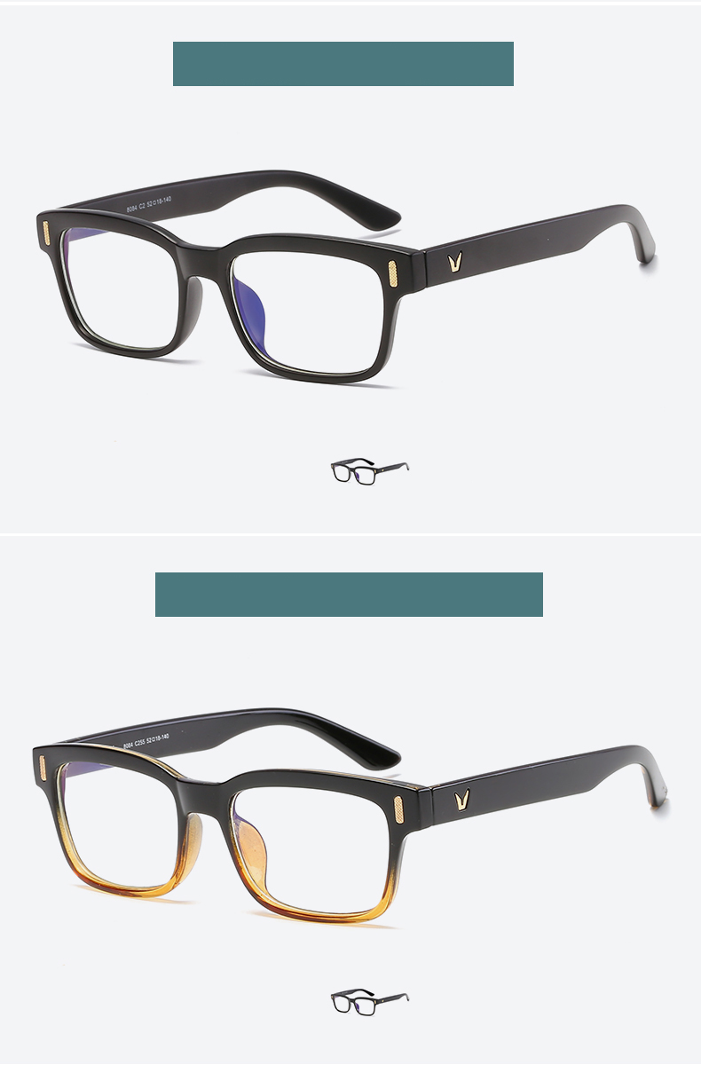 High Quality Stock Clear Lens Mens Womens Gaming Glasses Computer Glasses Anti uv Blue Light Blocking Glasses