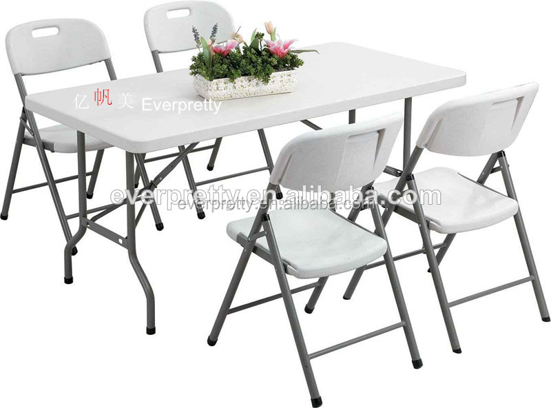 Space Saving Dining Table And Chairs 6ft Folding Dining Table And