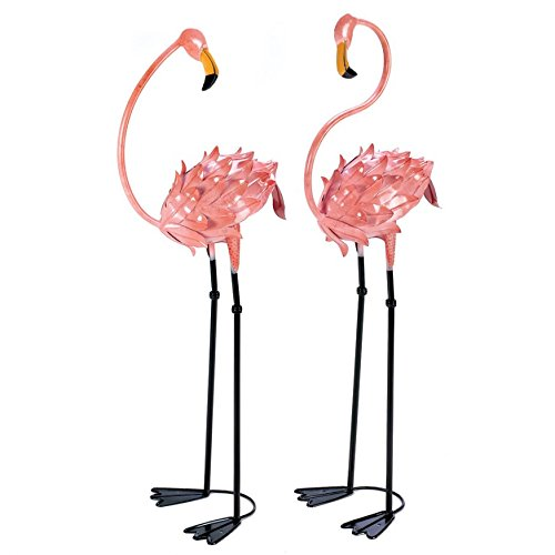 get quotations garden decor statues metal pink flamingo yard decorations statues 1 pair
