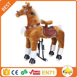 Funtoys CE wooden rocking toy horse for shopping centers