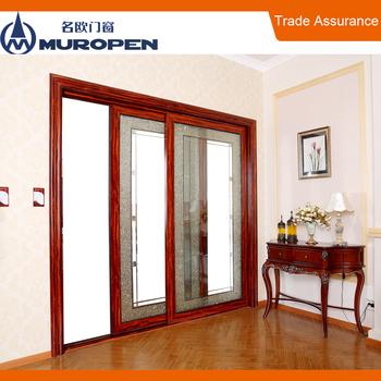 Aluminum Modern Design Drawing Room Door Tempered Glass Sliding