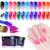 2019 New design Thermal Color Changing Acrylic Glitter Dust Pigment Natural Dry Decoration Dipping Nail Powder
