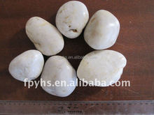 polished highly white river rocks stone