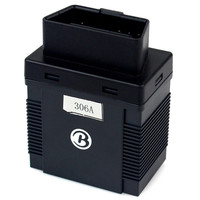 New Black 306A Plug BOD2 Vehicle Tracking System Locate Manage OBD Car Via SMS GPRS Real time GPS Tracker