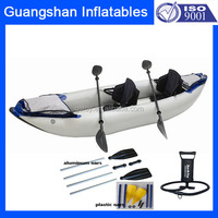 Double Seats Rigid Inflatable Hard Bottom Pedal Kayak Boats