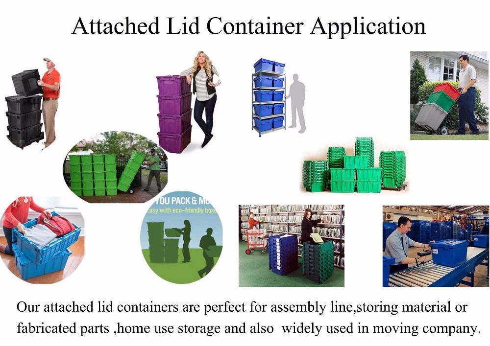 Low price 18 Gallon Heavy Duty Storage Plastic Tote moving box