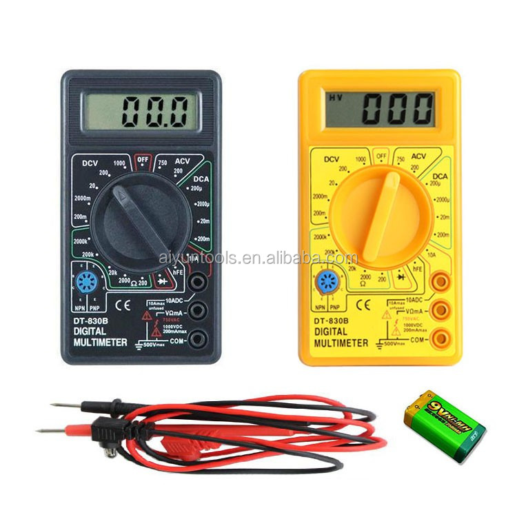 6000 Counts Temperature Test 1000V AC DC 20A AC DC Multifunction Digital Multimeter