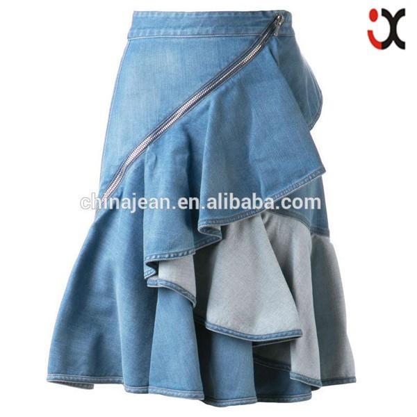 2015 New Designer Lady Summer Dress Girl Fancy Denim Jeans Skirt ...