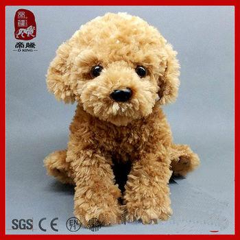 Attractive New Product Cute Stuffed Animal Sitting Hairy Dog Plush