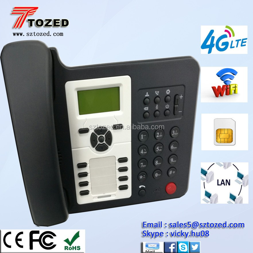 4g Lte Telephone Dual Sim Gsm Fix Wireless Desktop Phone With Wifi - Buy  Dual Sim Gsm Fix Wireless Phone,Wireless Gsm Sim Cordless Phone,Sim Card  Gsm