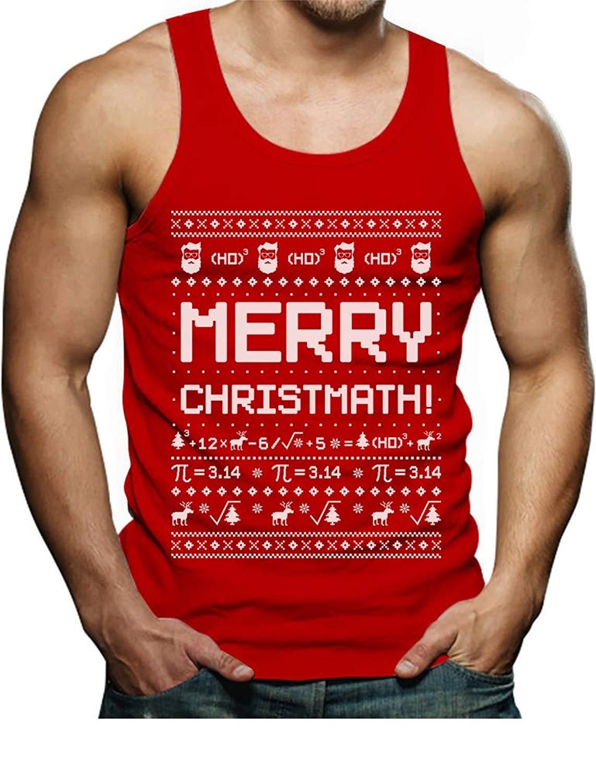 2091ec6e Tstars TeeStars - Merry Christmath Funny Math Ugly Christmas Sweater Singlet