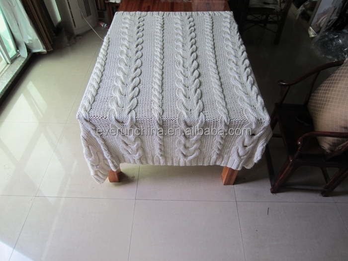 50db91 100%acrylic Hand Made Oversized Cable Knit Blanket,Handmade ...