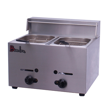 Tornado Potato 2 Tank Lpg Gas Fryer Commercial Deep Fryer Gas With Temperature Control