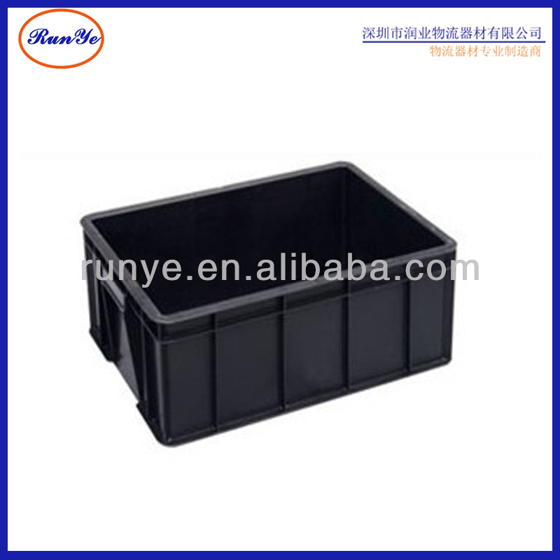 plastic turnover box handles available and easily to move plastics box for factory transport box
