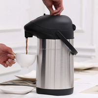 Portable stainless steel Thermos Vacuum Insulated air Pot 24hours Both Keep Warmth Keep Cool