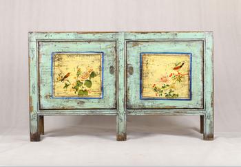 Credenza Alta Rustica : Cinese di legno antico dipinto rustico armadio credenza mobili per