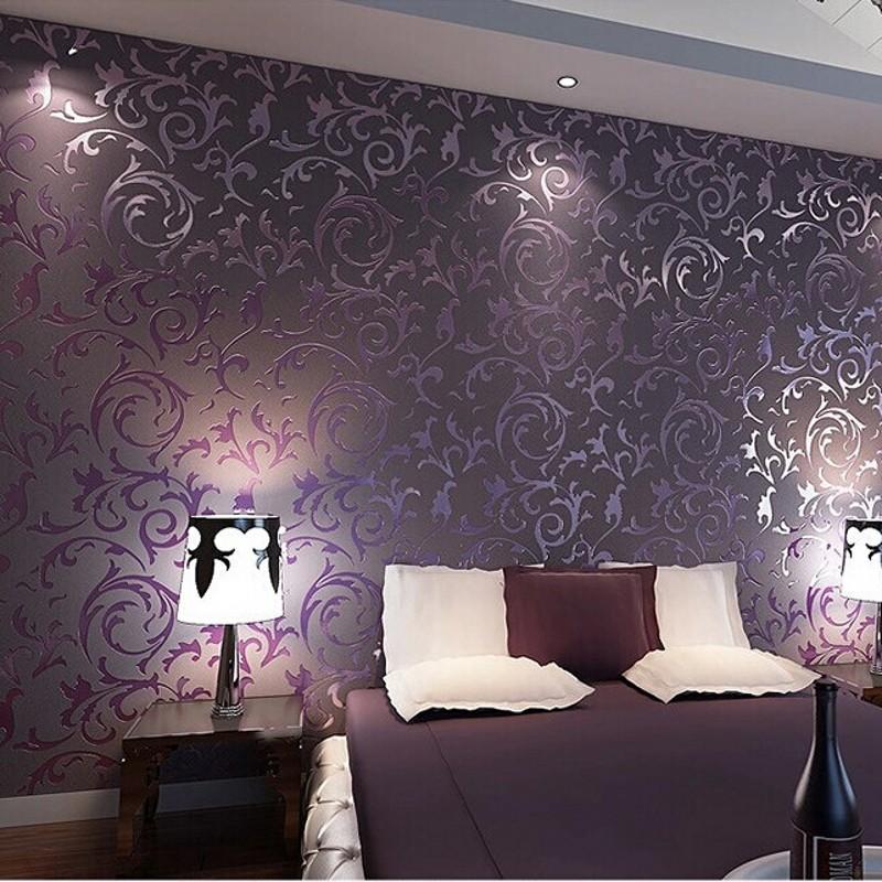 wallpaper High quality wall paper 3D fashion papel de parede bedroom background wall desktop wall paper - Lila Barock Tapete