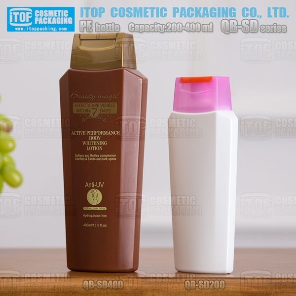 QB-SD hdpe plastic eco friendly biodegradable cosmetic hair product containers 200ml 400ml empty classical shampoo bottles