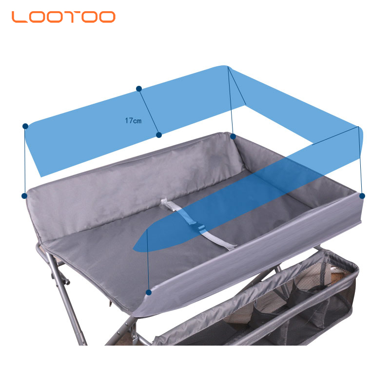 China factory supply baby products 4 in 1 foldable storage holders clothe hanger mummy care baby diaper pad mat changing station