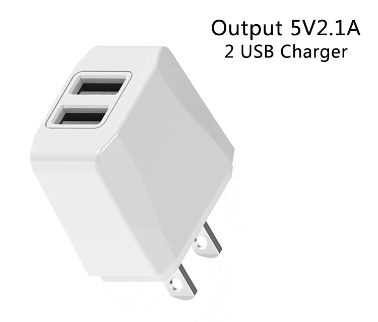 Phone accessory 5v 2.1amp usb travel charger AC DC multi adapter US EU fast charging universal usb wall charger