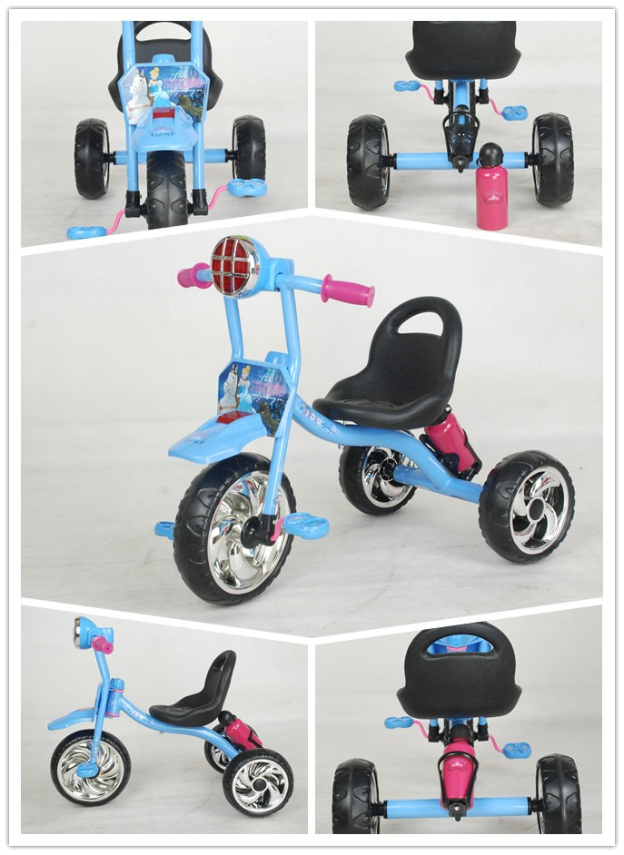 SIMPLE CHILDREN TRICYCLE WITH MUSICAL AND FLASHING TOY