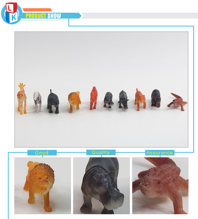 mini 3d zoo jungle wild animal figures model toy set for bulk sale