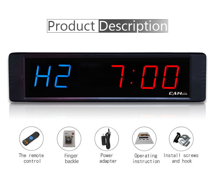 Wholesale High Quality Multi-functional Waterproof Aluminum Alloy Gym Timer