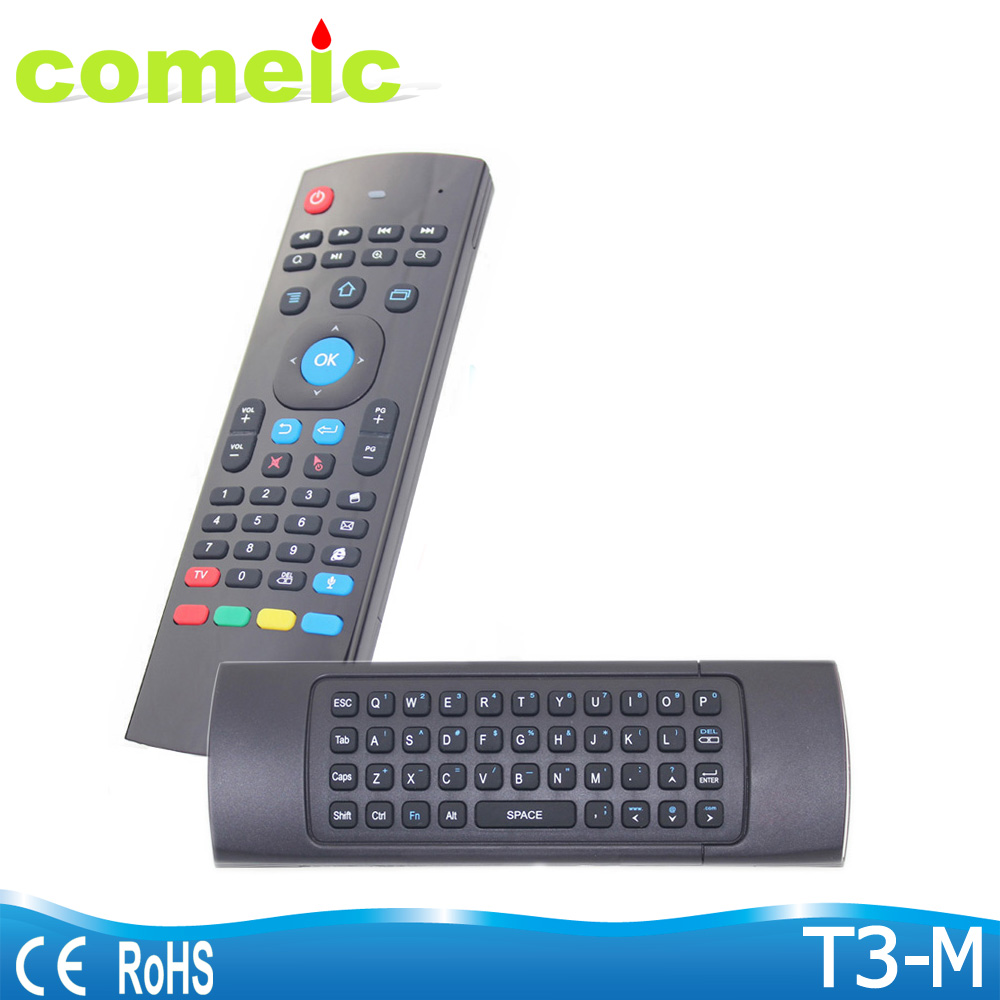 T3 smart voice air mouse double keyboard with ir learning remote control for tv box