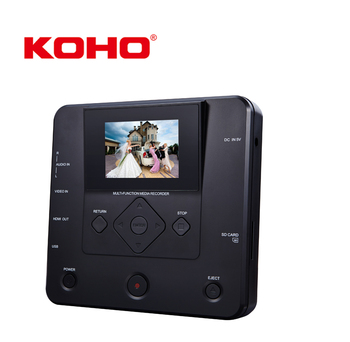 2,8 Zoll KOHO Tragbare DVD-Player Media Voice Recorder Mit AV-in