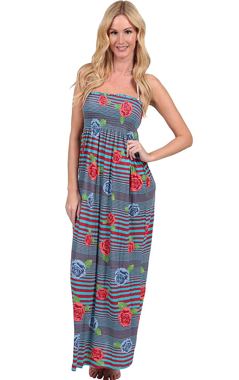1a1c12d06e Get Quotations · Ingear Smock Top Maxi Tube Dress