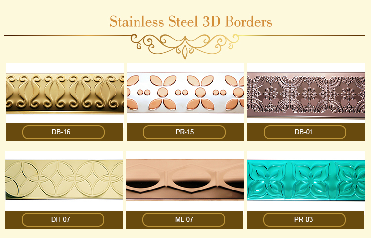 Stainless Steel Ktv Indoor Decoration Sequin Wall Border
