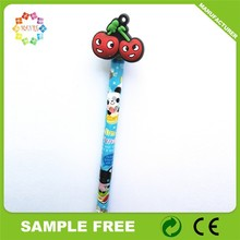 Promotion Gift Pen colorful logo with PVC Pen topper Wholesale