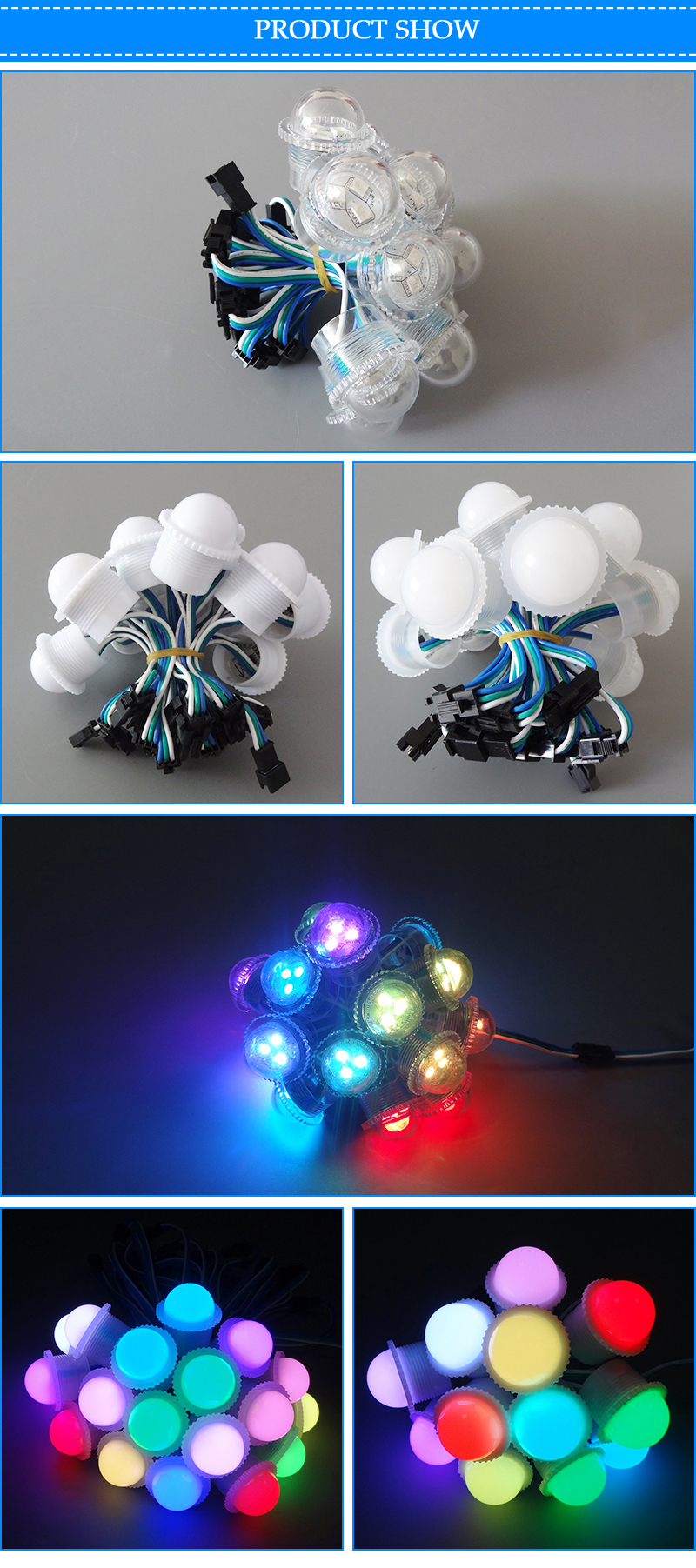 26MM RGB Ws2811 UCS1903 color changing outdoor led flood Point light source for amusement part
