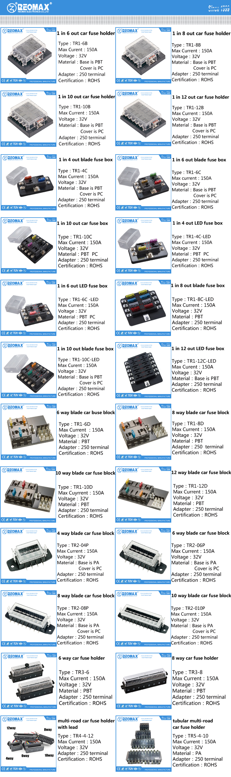 Van Boat Car Audio Tractor Marine Standard Atc Ato 15a 30a 35a 40a Fuse Box Relay Faq Of Automotive Blade Holder Block Series