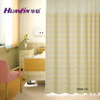 manufacturer 100% polyester flame retardant hospital curtain