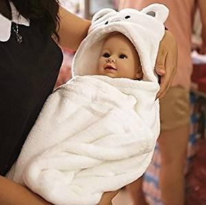 8080cm Baby Bathrobe Cute Animal Cartoon Babies Blanket Kids Hooded  Bathrobe Toddler Baby Bath Towel Newborn 1a58632f9