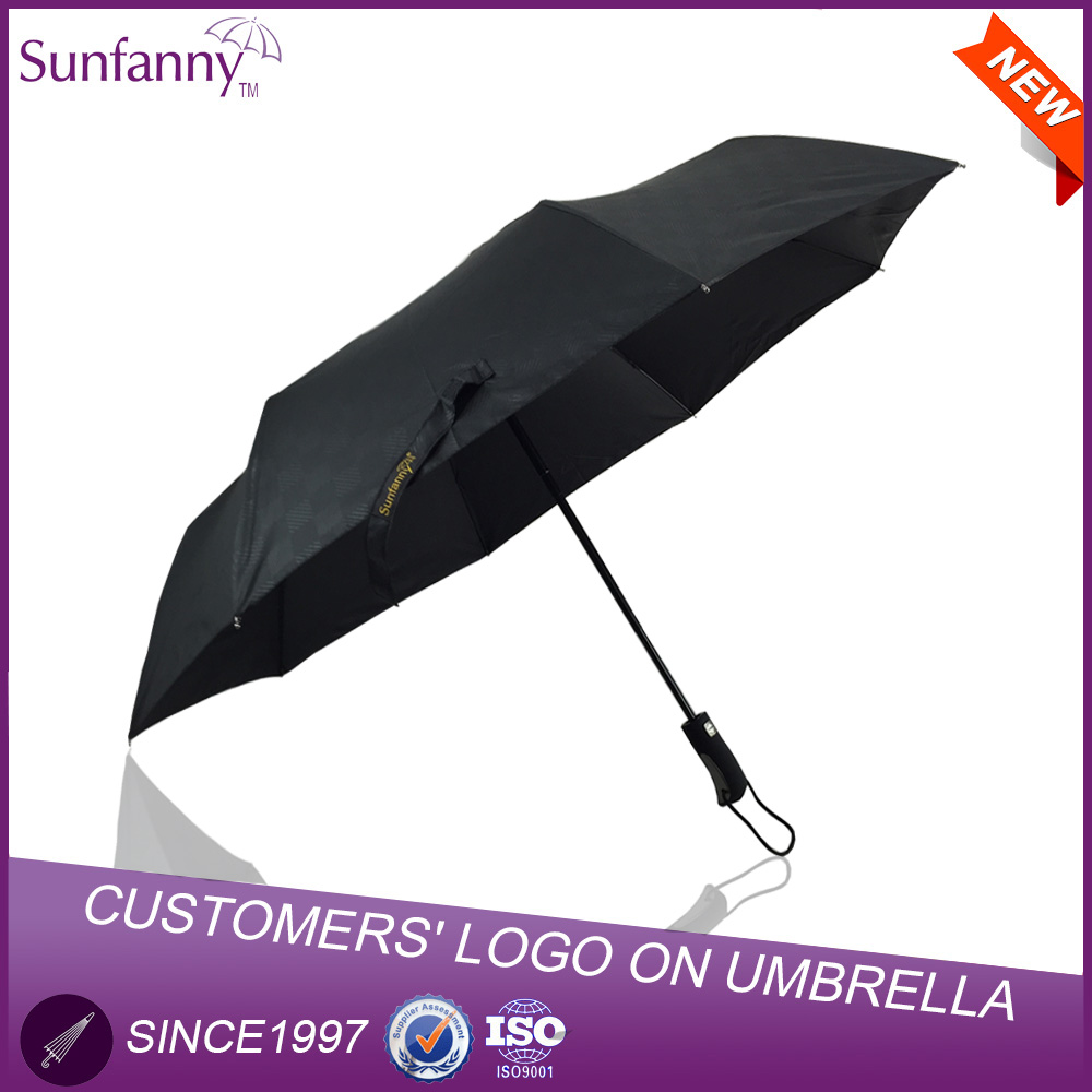 "Made in China 23""*8k Auto Open Duck Head Handle 3 Folding Umbrella"