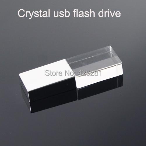 hot crystal transparent led light metal usb flash drive pen drive usb memory stick disk custom. Black Bedroom Furniture Sets. Home Design Ideas