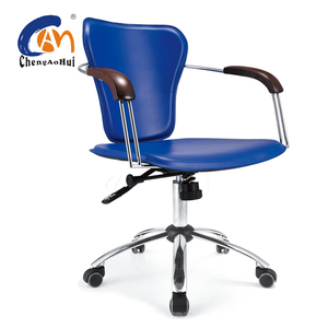 Bride swan air conditioned office chair in blue color leather