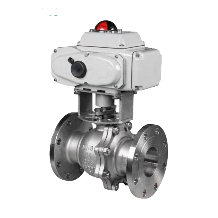 Disesuaikan Electric Actuator Ball Valve dengan Drain Port